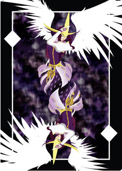 Semi complete queen card