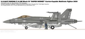 BOEING F/A-18E(III) ''Super Hornet'' (VFA-25)