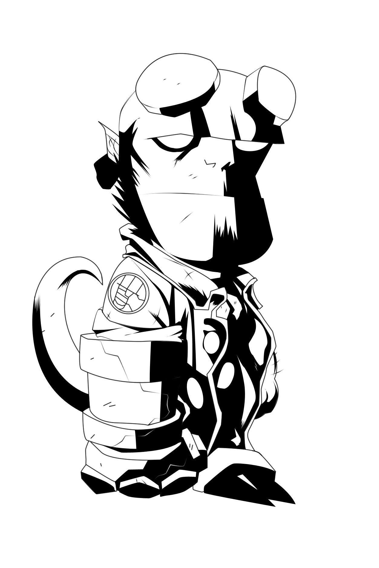 Chibi Hellboy +Inkz+ by AirBornInk22 on DeviantArt