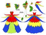 Macaw Dress Design