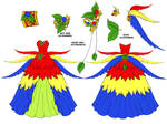Macaw Dress Design