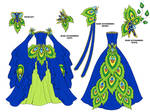 Peacock Dress Design