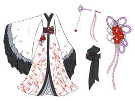 Crane dress design