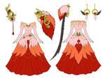 Flamingo Dress Design