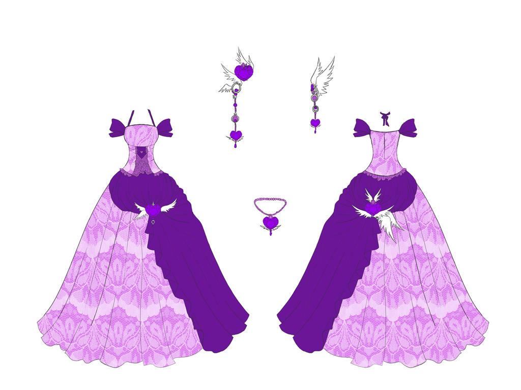 Amethyst Dress Design by Eranthe