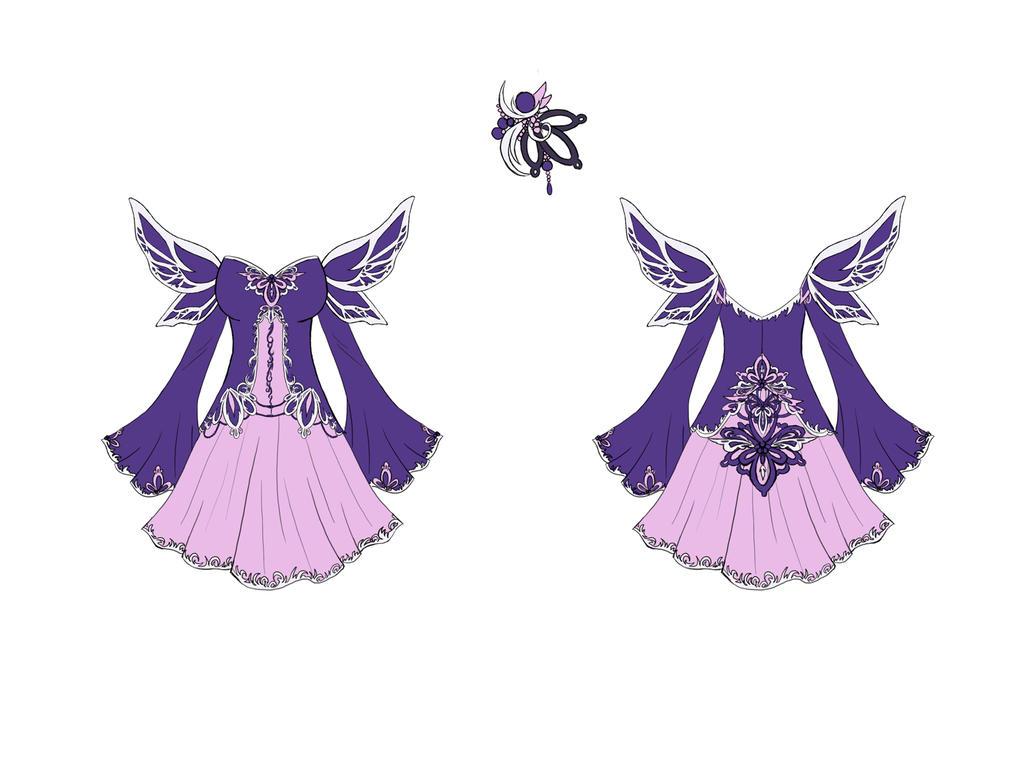 Fallen Angel Dress Design by Eranthe