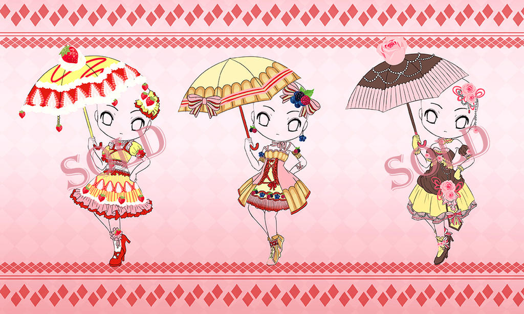 [Adoptable #1] Dessert Umbrella Chibi [Open] by Eranthe