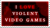 Violent Video Games Stamp by KingGiantess