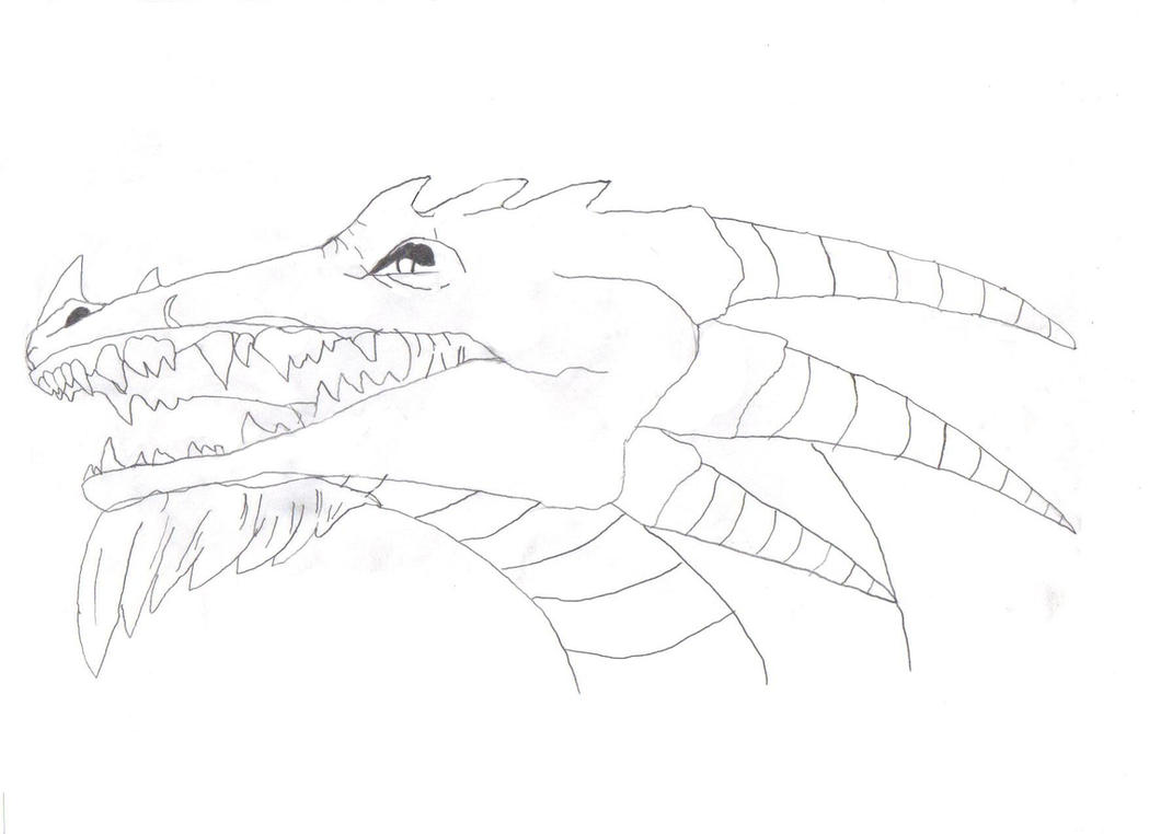 Narly Dragon sketch. by realflow001