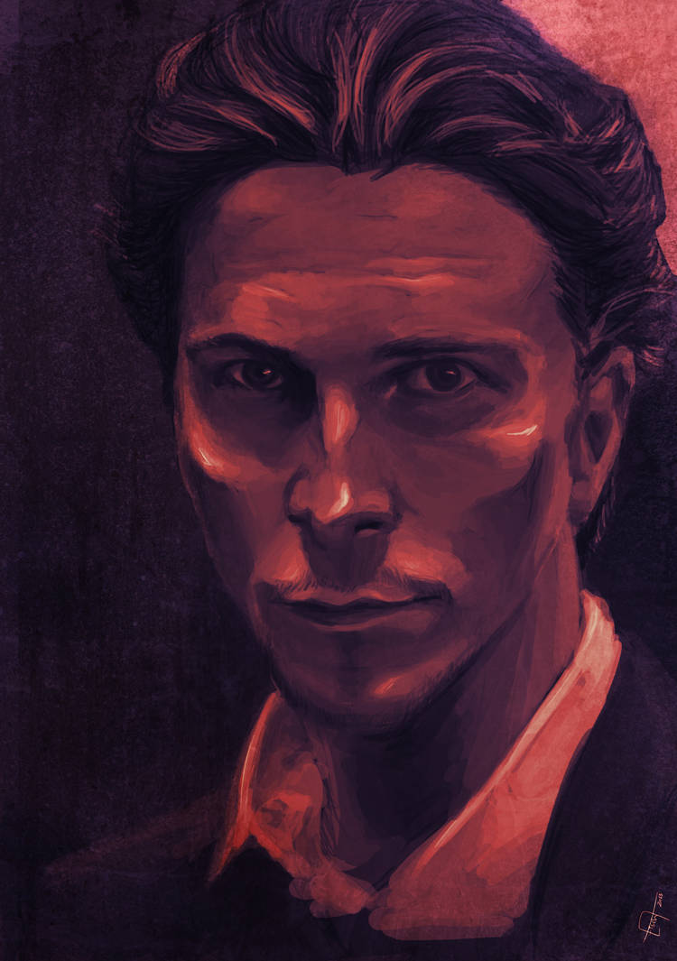 Christian Bale portrait by Tahlsou