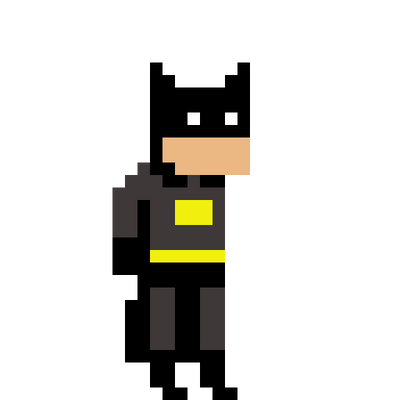 pixel art batman by isa draws on deviantart