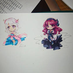 copic chibis by dathie