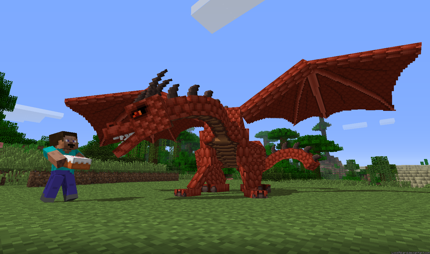 How to make a dragon in maynecraft