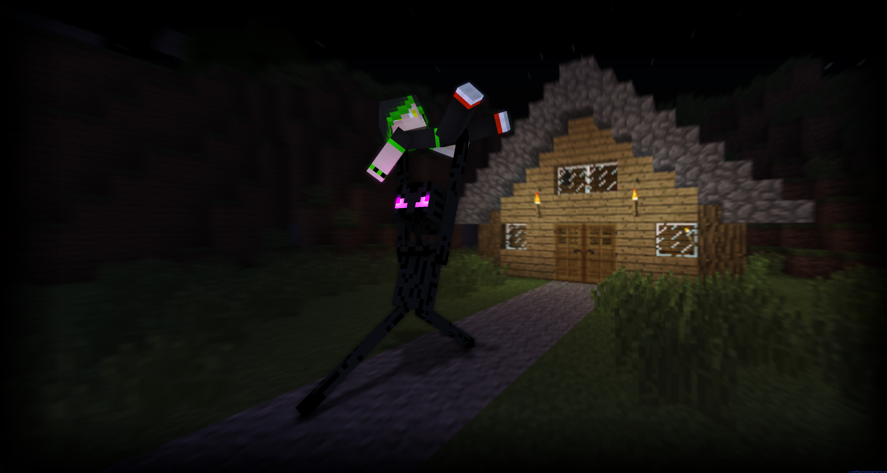 Must see Wallpaper Minecraft Real Life - kidnapped_by_an_enderman_by_lockrikard-d59zz8f  Picture_70548.png