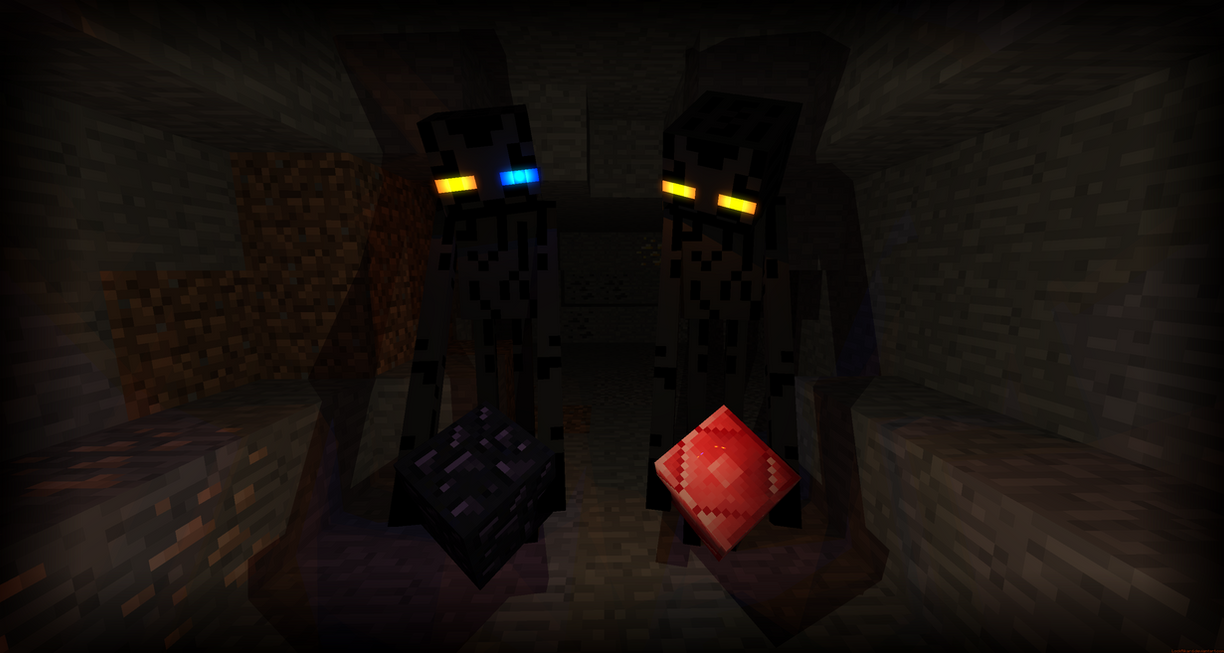 Two Endermen by LockRikard