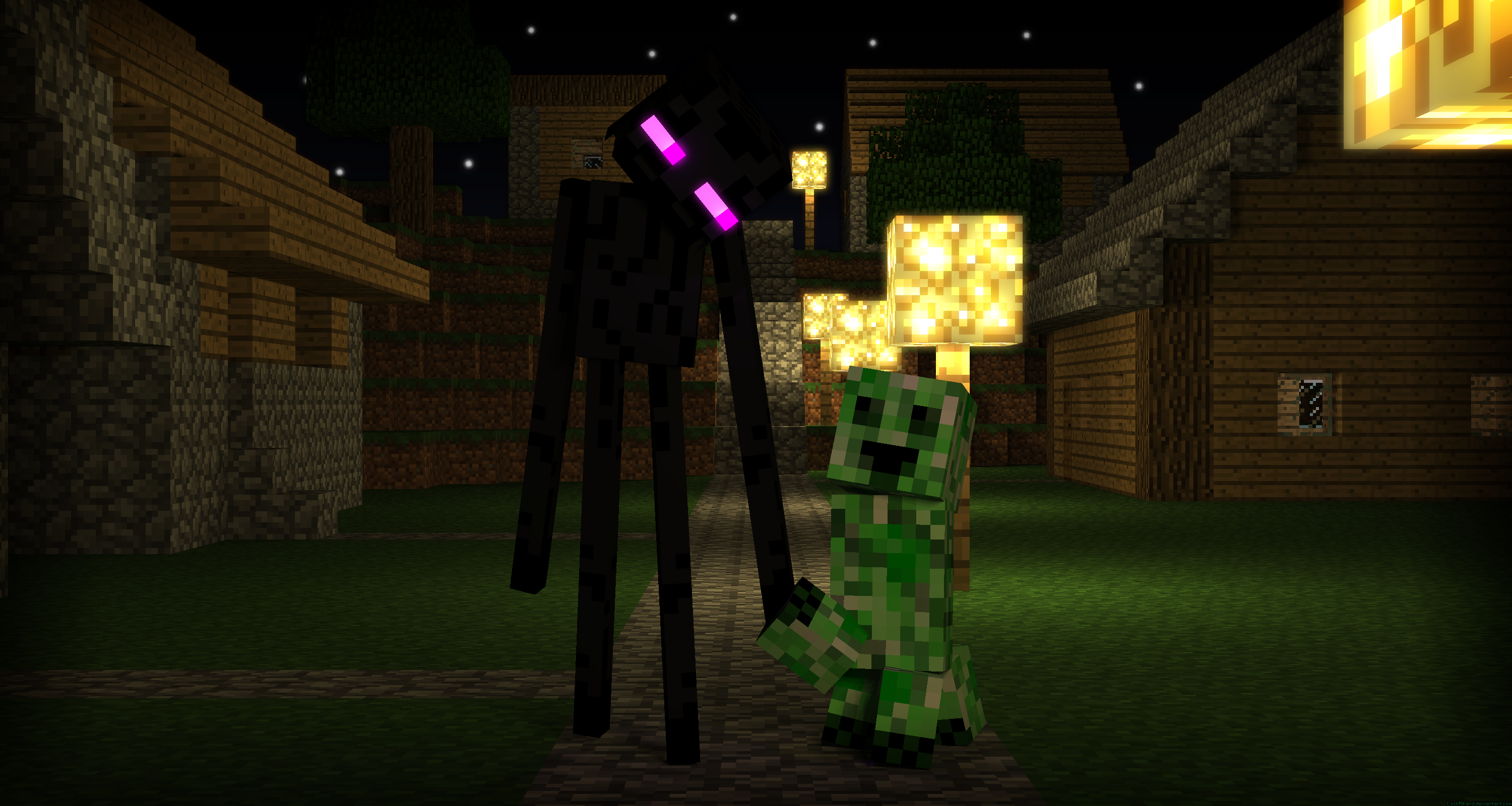 Fantastic Wallpaper Minecraft Enderman - enderman_on_a_date_by_lockrikard-d5aobcr  Collection_734850.png