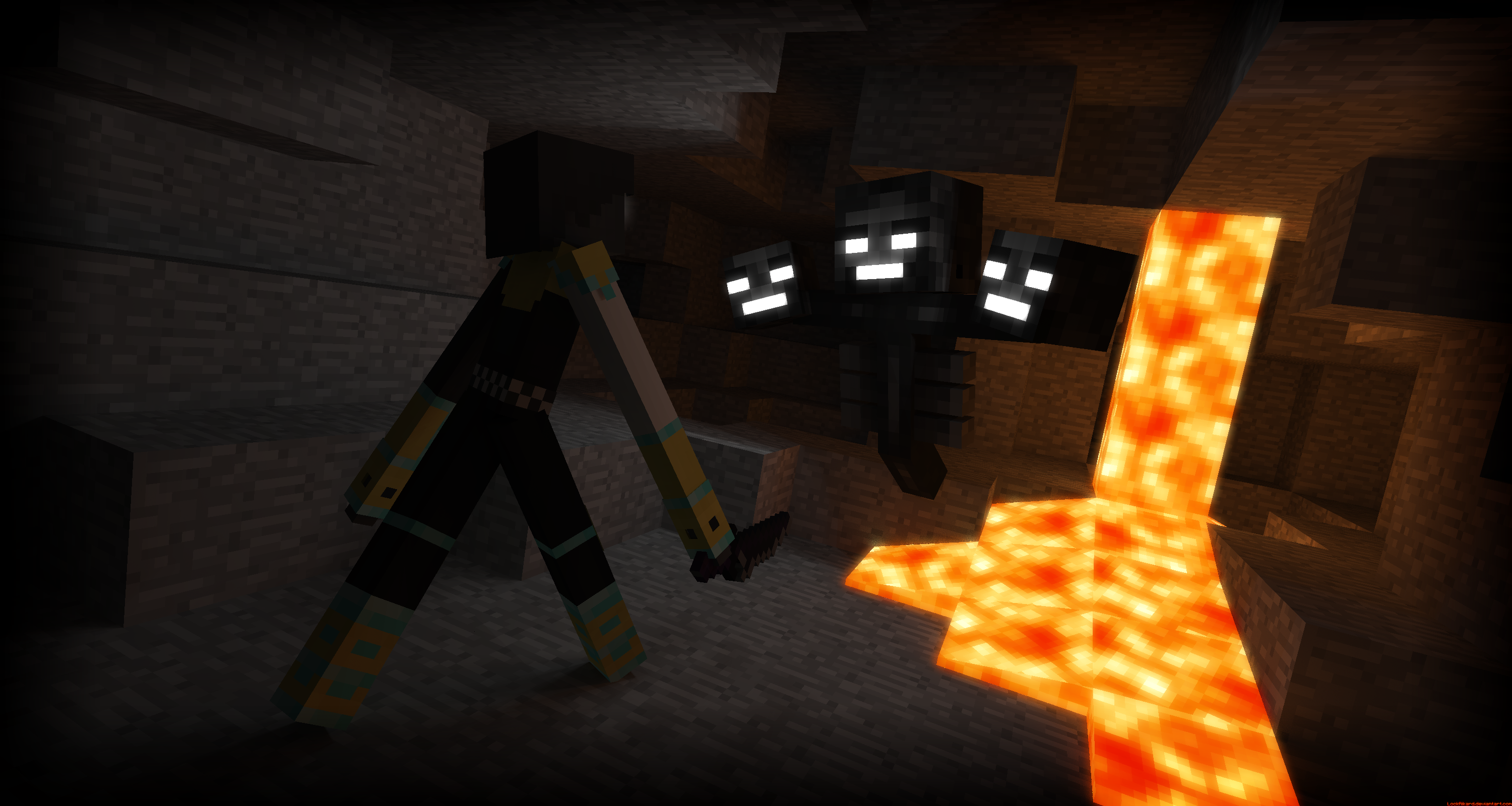 Jinx Vs The Wither 【吐槽:wither就长这摸样?! 展示 Amp 共享 Minecraft