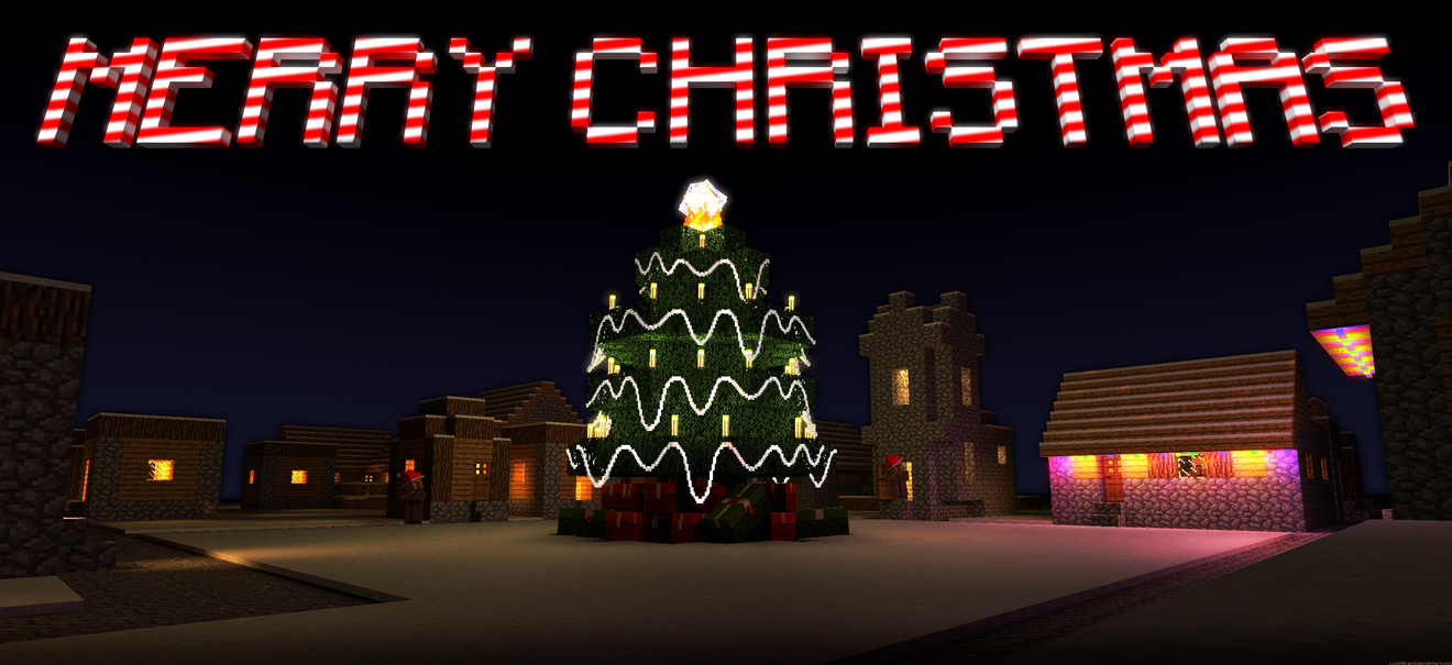 Beautiful Wallpaper Minecraft Christmas - christmas_village_by_lockrikard-d5otpon  Picture_74421.png