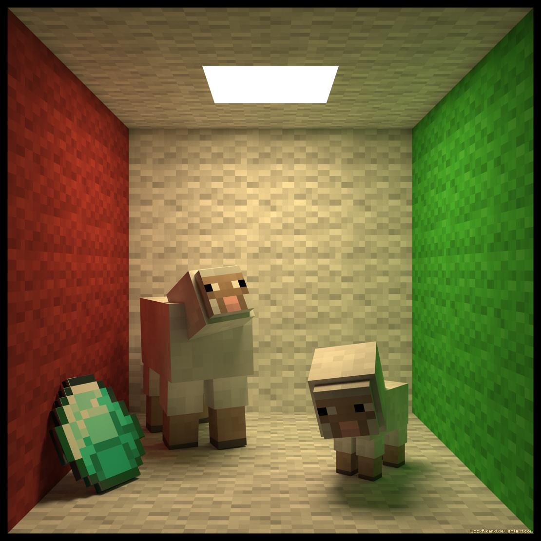 Minecraft Cornell Box by LockRikard