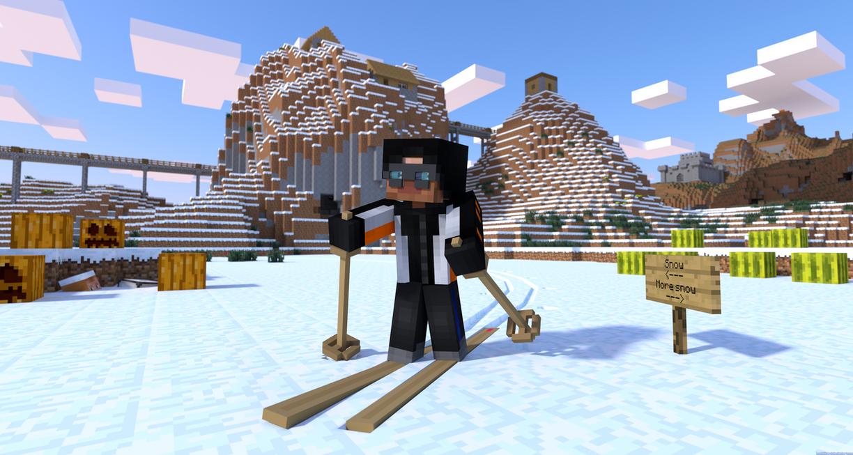 Minecraft Skiing by LockRikard