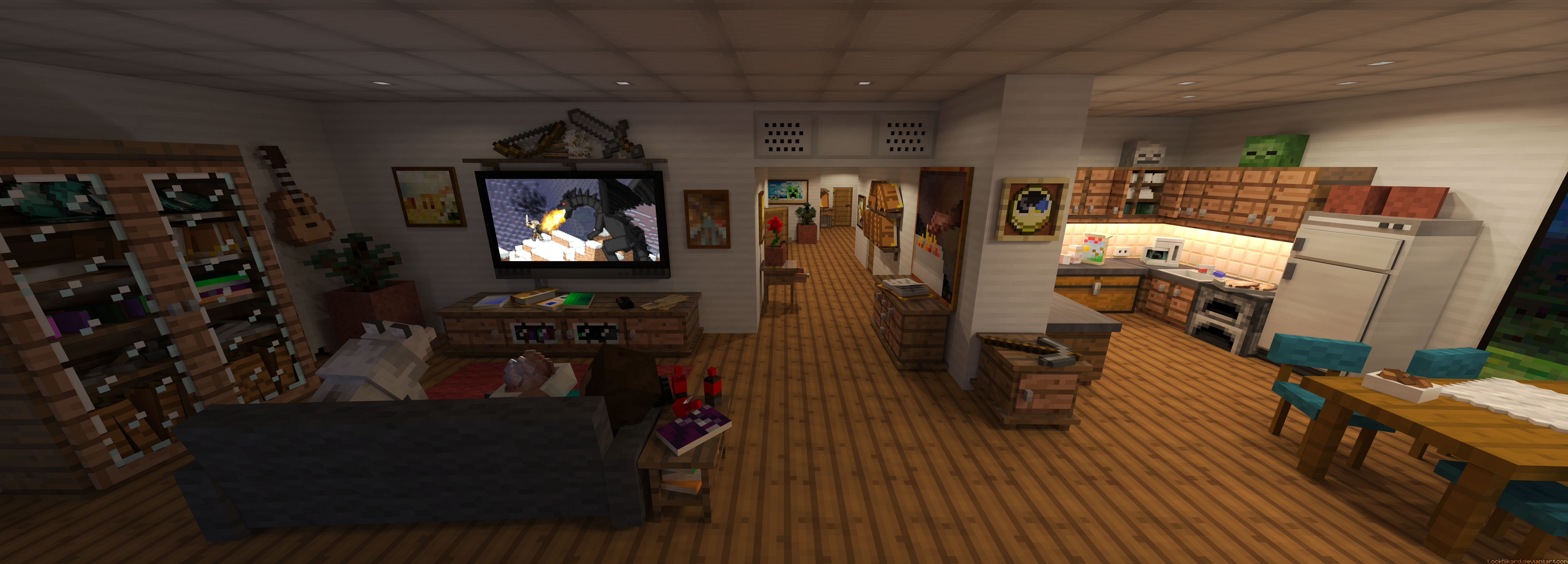 Steve 39 s apartment by lockrikard on deviantart for Make a 3d room