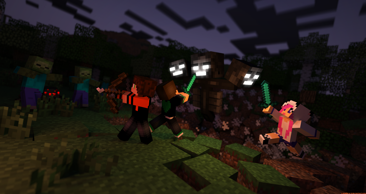 Zombies, Spiders, The Wither, Oh my by LockRikard