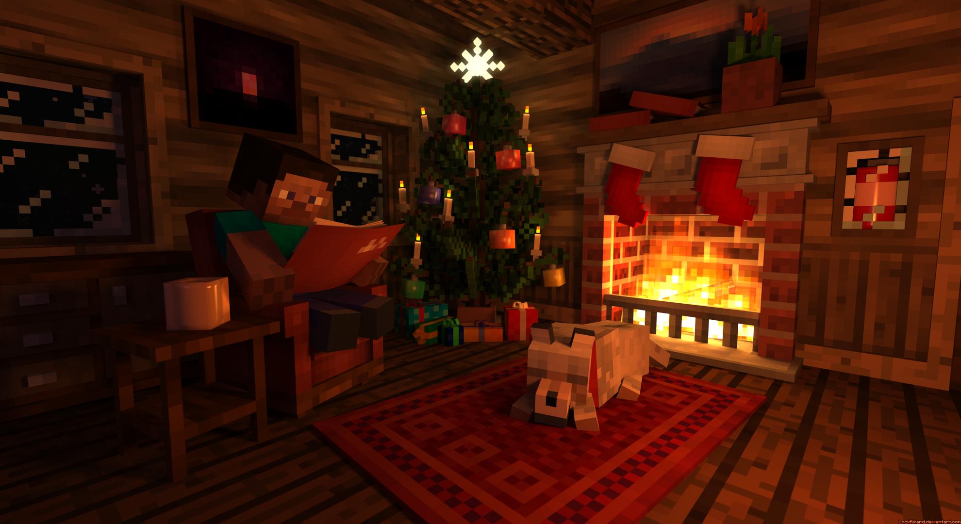 Steve's Christmas Cabin by LockRikard on DeviantArt