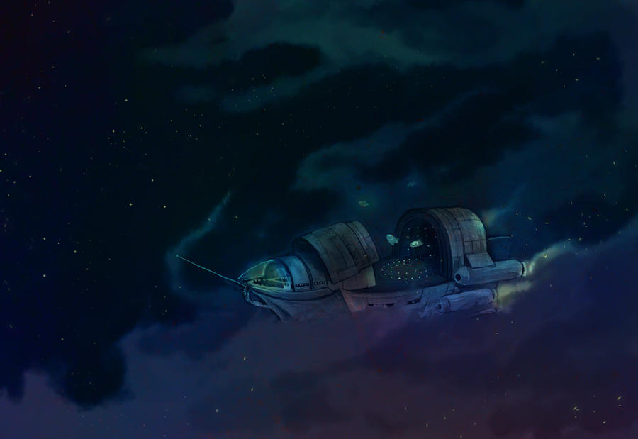 Space Pirate Ship by OrangeCurl