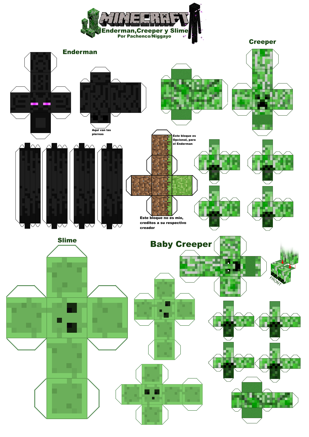 Minecraft Papercraft Por Niggayo By On DeviantArt