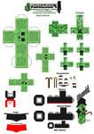 Minecraft Papercraft Texturas y Accesorios Alterno