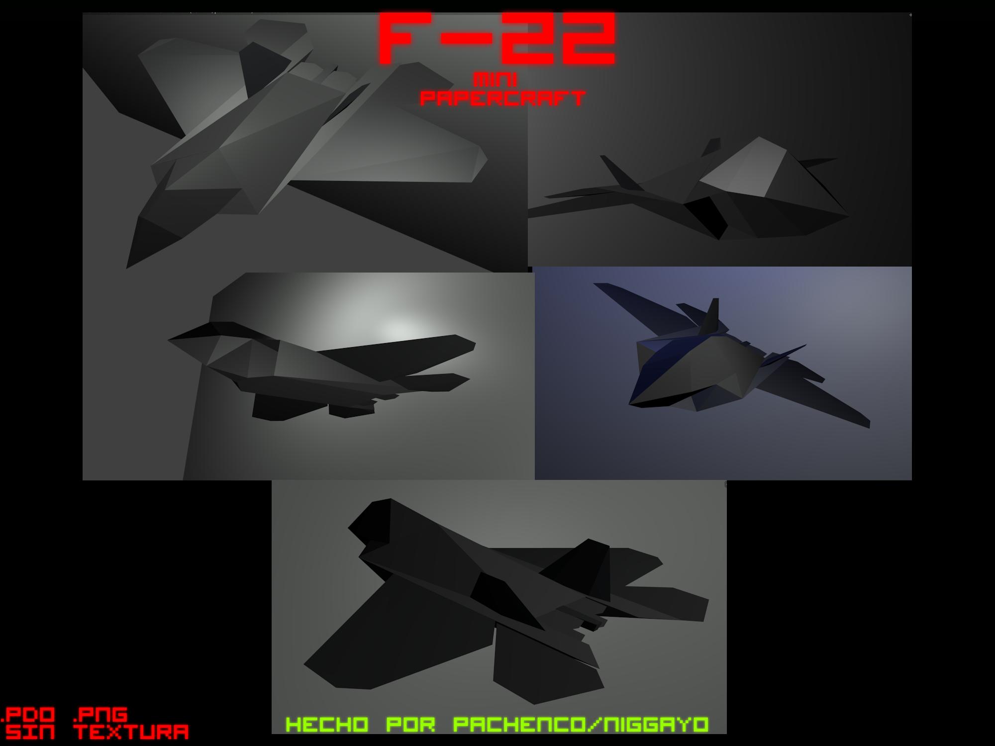 F-22 Mini Papercraft