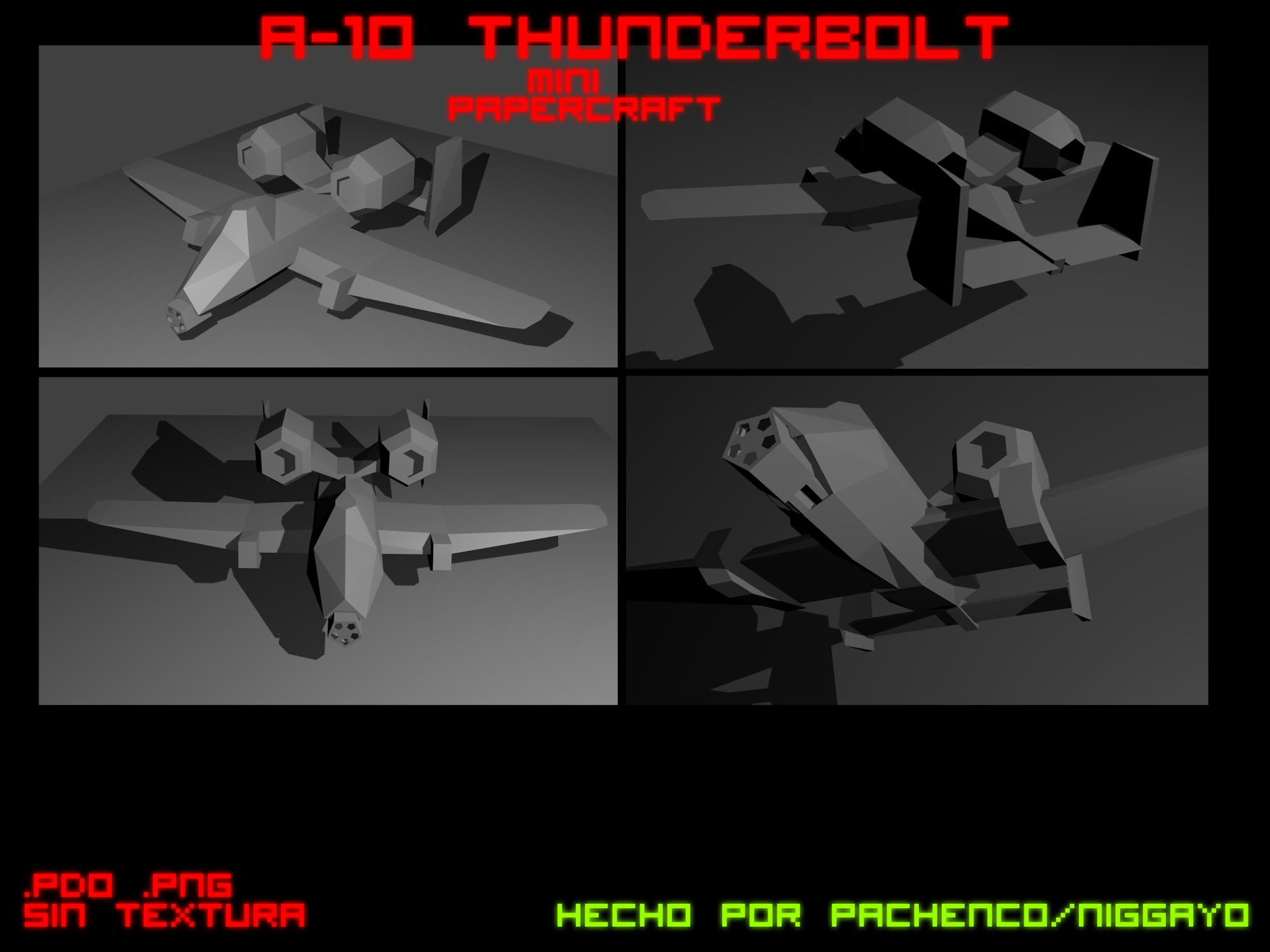 A-10 Thunderbolt Mini Papercraft