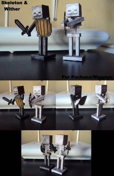 Minecraft Papercrafts Skeletons Y Wither Muestra!