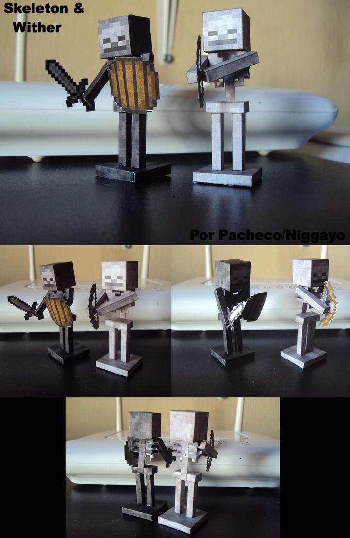 Minecraft Papercrafts Skeletons Y Wither Muestra! by Niggayo