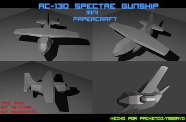 AC-130 Spectre Gunship Mini Papercraft