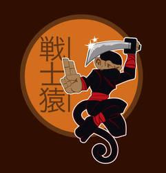 Ninja Monkey by JohnyArtGuy