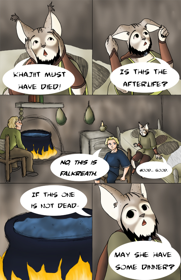 Tamriel Tails- ALWFE- Birth of a Hero #1 Page 10 by KittenXaos