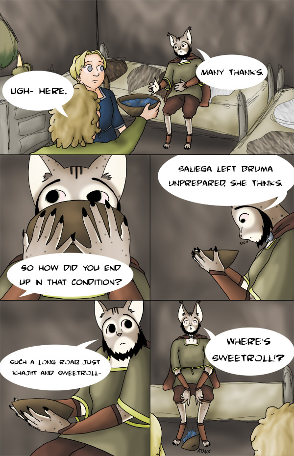 Tamriel Tails- ALWFE- Birth of a Hero #1 Page 11 by KittenXaos
