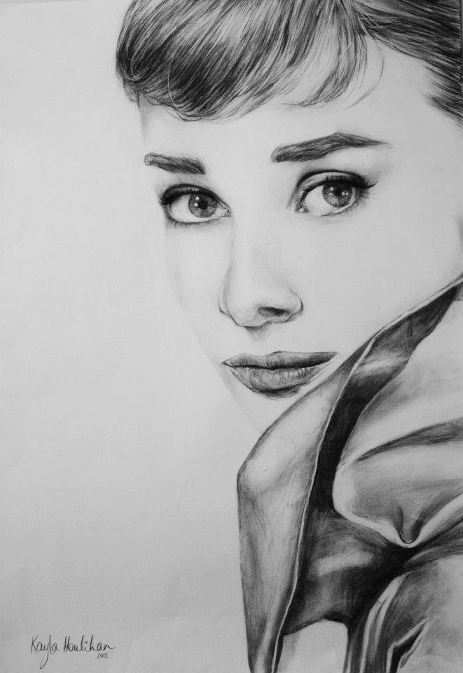 Audrey Hepburn by kaylahoulihan