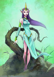 Elf Princess Con Sketch By Randygreen D1rs64s
