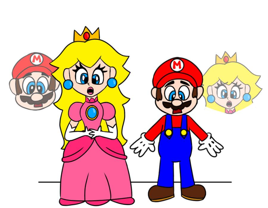 Deviantart Body Swap: Mario And Peach Bodyswap By T00ngaming On DeviantArt