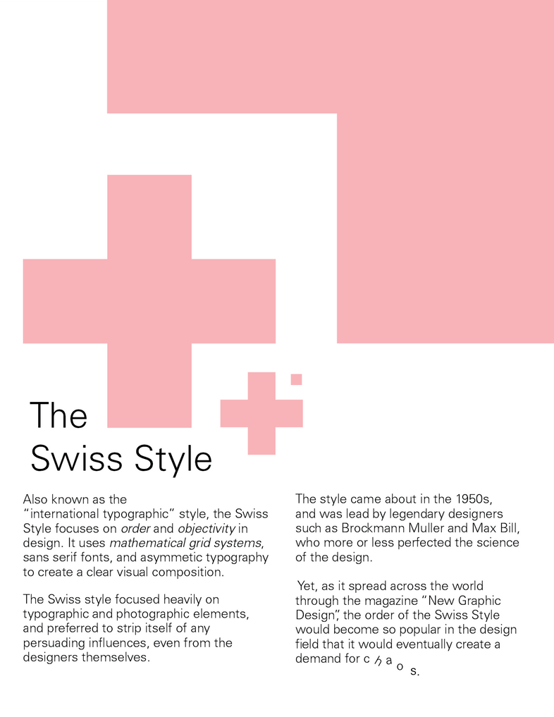 Swiss Style Graphic Design Definition
