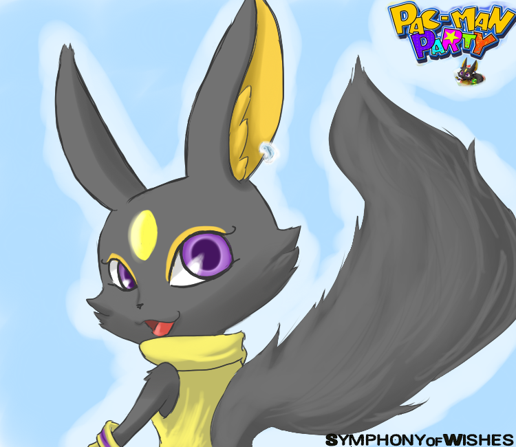 The Black Fox From Pac-man Party By SymphonyofWishes On