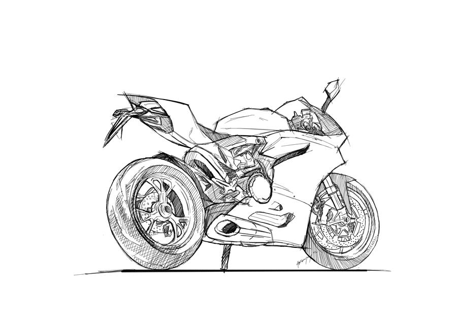 FA Ducati Panigale Lineart by primayoga on DeviantArt
