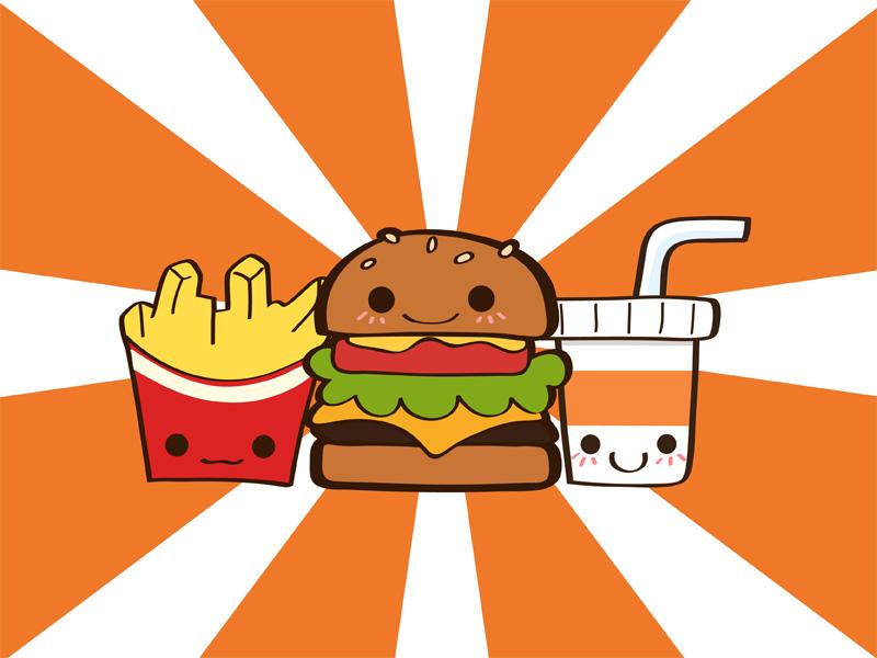 junk food wallpaper by Yume-fran