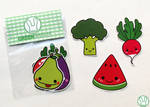 Fruits and veggies stickers