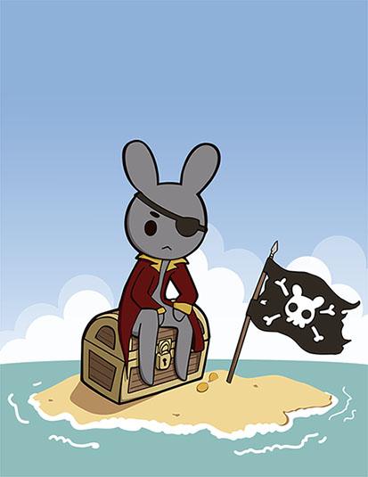 Captain Rabbit treasure by Yume-fran