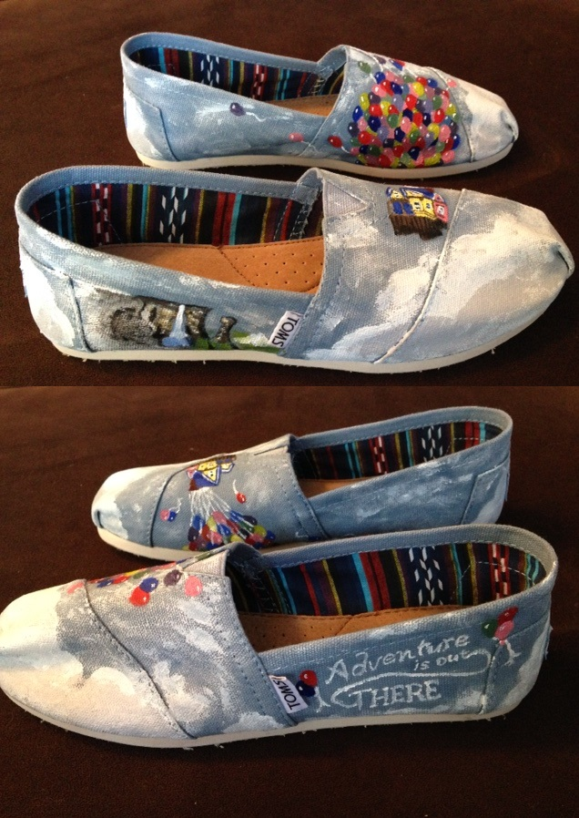70005bcbcf4cb Painted Disney's Up Toms shoes by DaveCarignan on DeviantArt