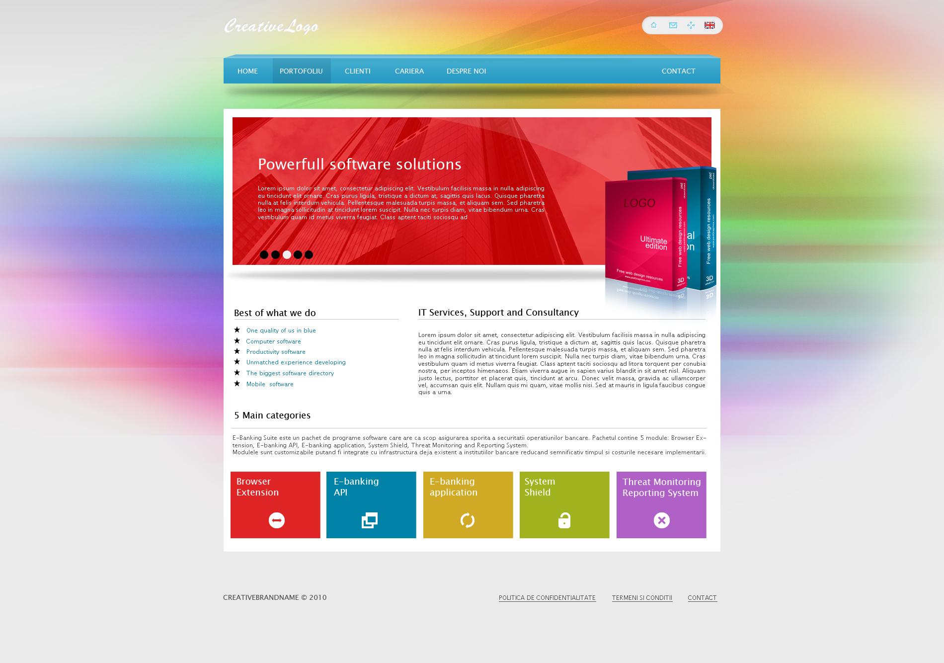 Creative Software Web Template By Coleg On Deviantart