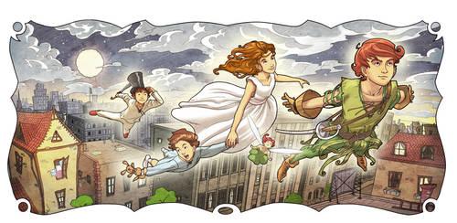 Peter Pan And Wendy 3 by Giacobino
